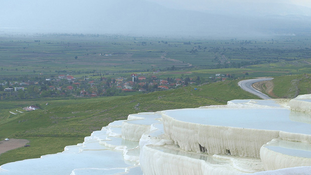 Pamukkale, a popular tourist destination in Turkey