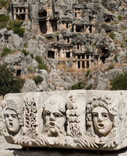 You can tour the Myra Tombs near Fethiye