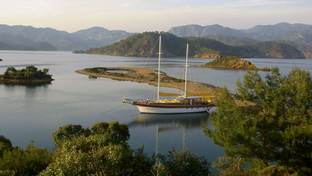 Yassica Island, gulet cruise in Turkey