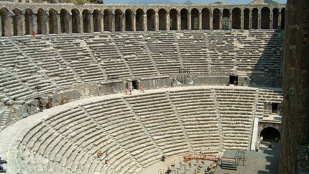 Largest ancient amphitheatre Aspendos