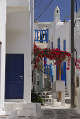 Narrow streets - Mykonos -
