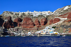 Fira and port - Santorini -