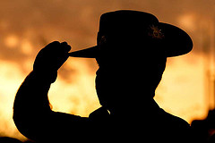 Soldier at dawn - ANZAC Day - Escorted Tour
