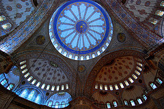 Inside the Blue Mosque - Istanbul -