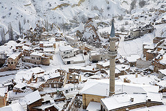 Uchisar under snow - Cappadocia - Escorted Tour