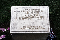 Grave of John Simpson - Gallipoli - Small Group, Special Interest