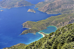 View of Oludeniz from Baba Mountain - Fethiye - Escorted Tour
