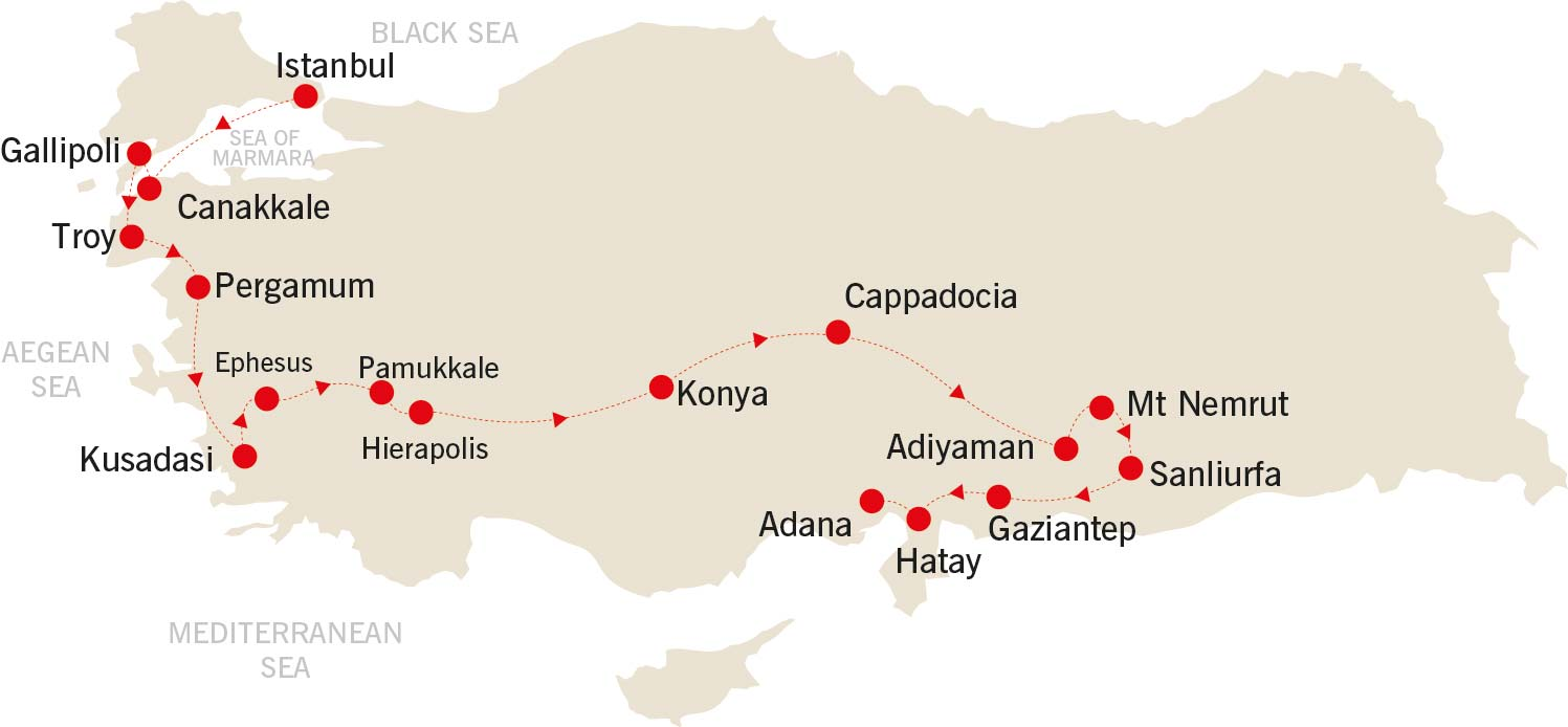 Culinary Delights of Turkey map