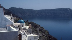 Panoramic view from Santorini