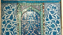 Iznik tiles decorate the walls of Blue Mosque in Istanbul.