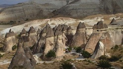 Fairy Chimneys of Cappadocia are world famous and located in Central Anatolia.