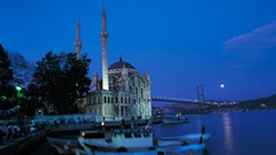 Ortakoy Mosque with Bosphorus Bridge