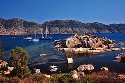 Kekova, also named Caravola, is a small Turkish island near Kaş (ancient Antiphellos) district of Antalya.