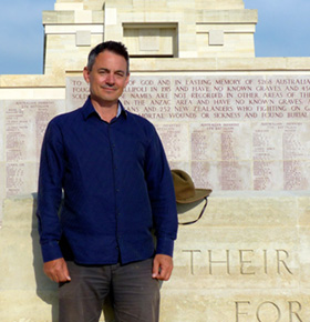Gallipoli historian Brad Manera will present on the cruise